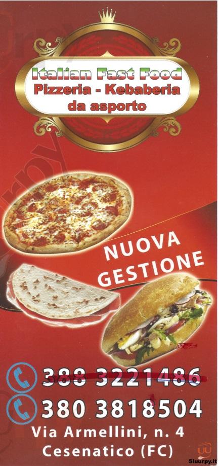 ITALIAN FAST FOOD Cesenatico menù 1 pagina