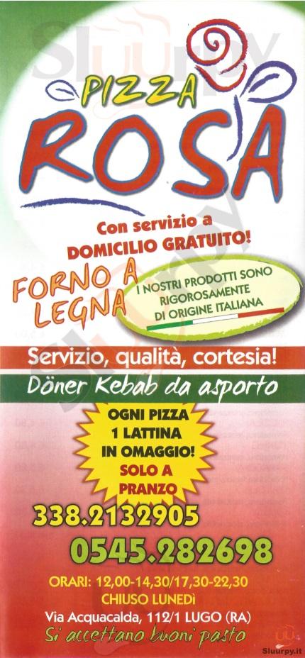 Pizzeria Rosa Lugo menù 1 pagina