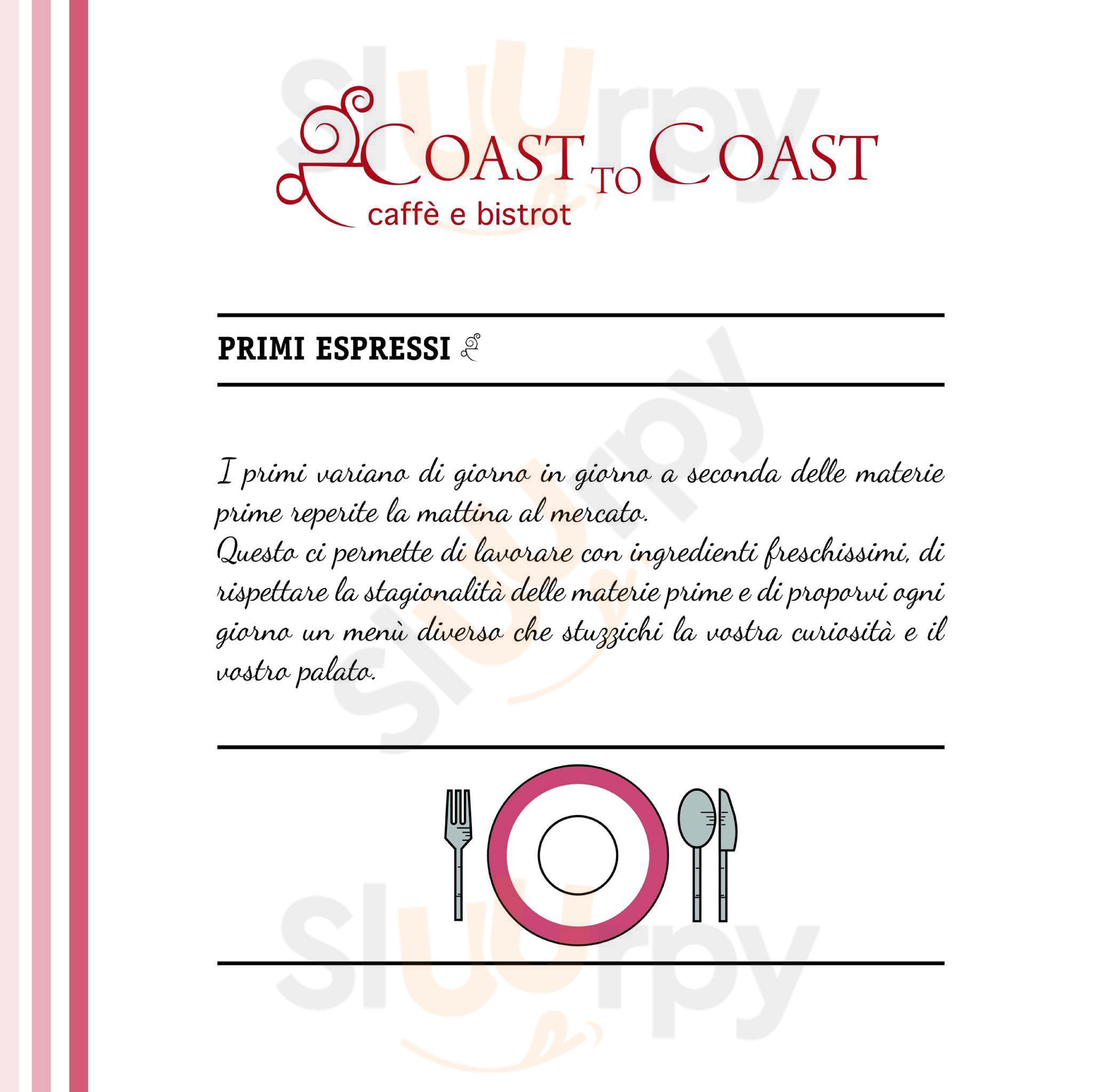 Coast to Coast Palermo menù 1 pagina