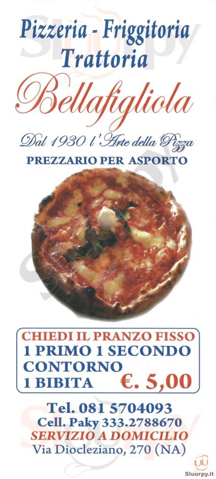 BELLA FIGLIOLA Napoli menù 1 pagina