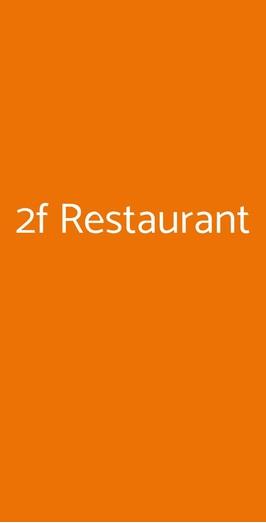 2f Restaurant, Genova