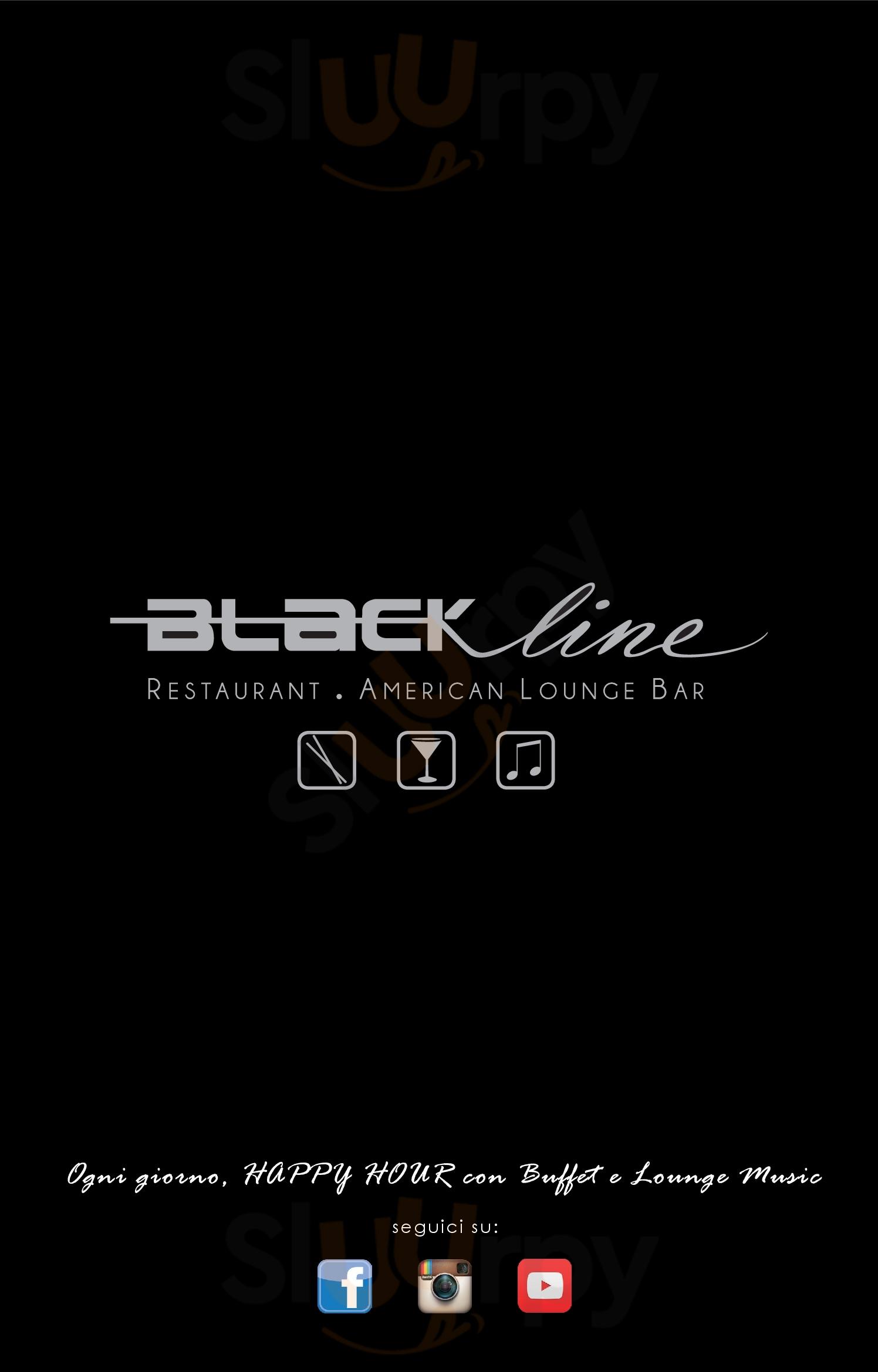 Black Line Bientina menù 1 pagina
