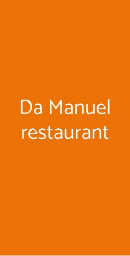 Da Manuel Restaurant, Pisa
