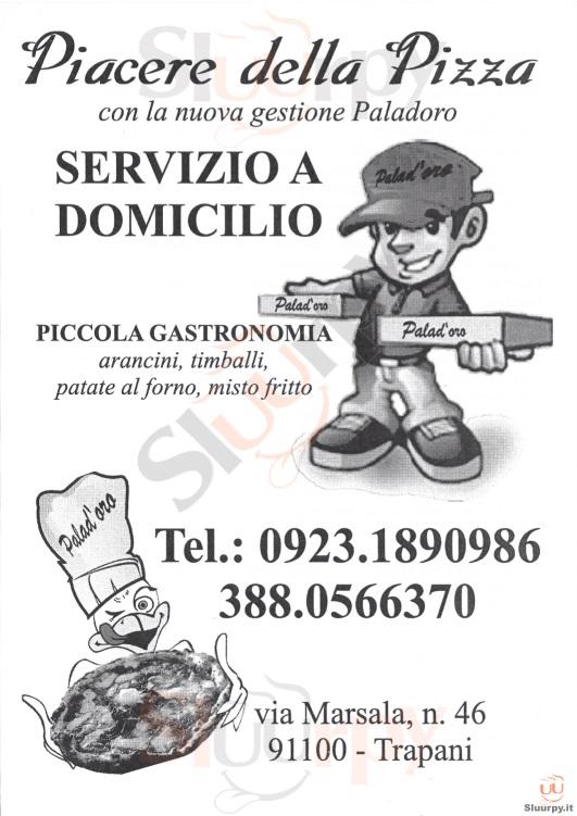 PIACERE DELLA PIZZA Trapani menù 1 pagina