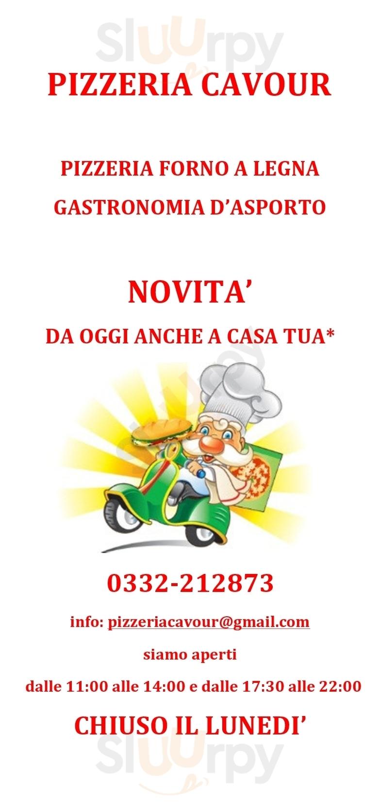 Cavour Casciago menù 1 pagina