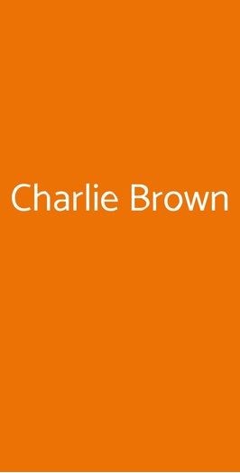 Charlie Brown, Castellanza