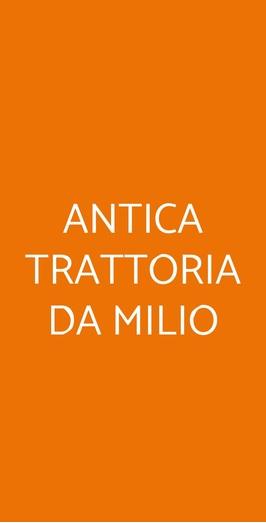 Menu ANTICA TRATTORIA DA MILIO