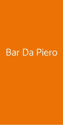Menu Bar Da Piero