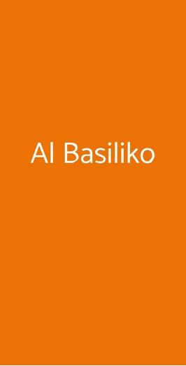 Menu Al Basiliko