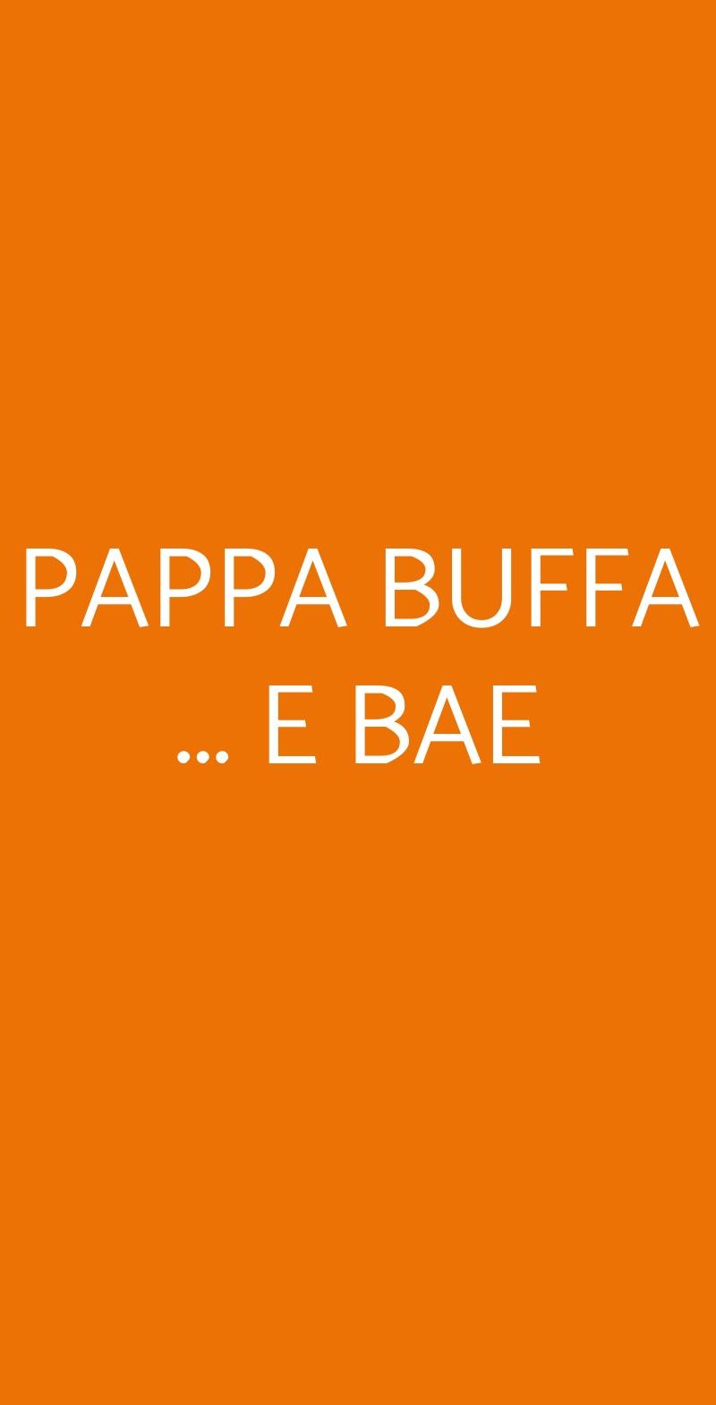 PAPPA BUFFA ... E BAE Calasetta menù 1 pagina