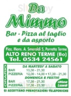 Da Mimmo, Porretta Terme