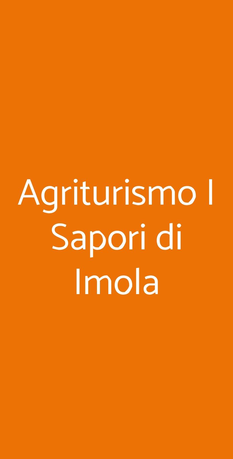 Agriturismo I Sapori di Imola Imola menù 1 pagina