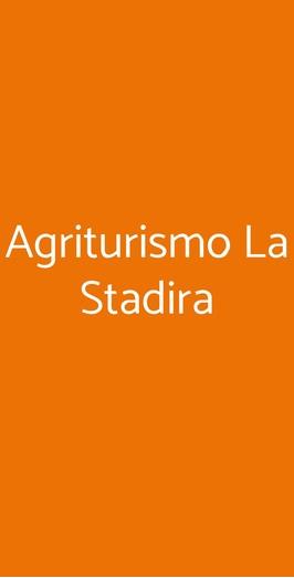 Menu Agriturismo La Stadira
