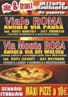 Ale & Franz, Via Monte Rosa, Novara