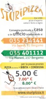 Sturipizza, Via Moroni, Bergamo