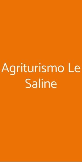 Menu Agriturismo Le Saline