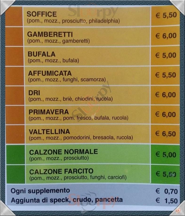 DRI PIZZA Mantova menù 1 pagina