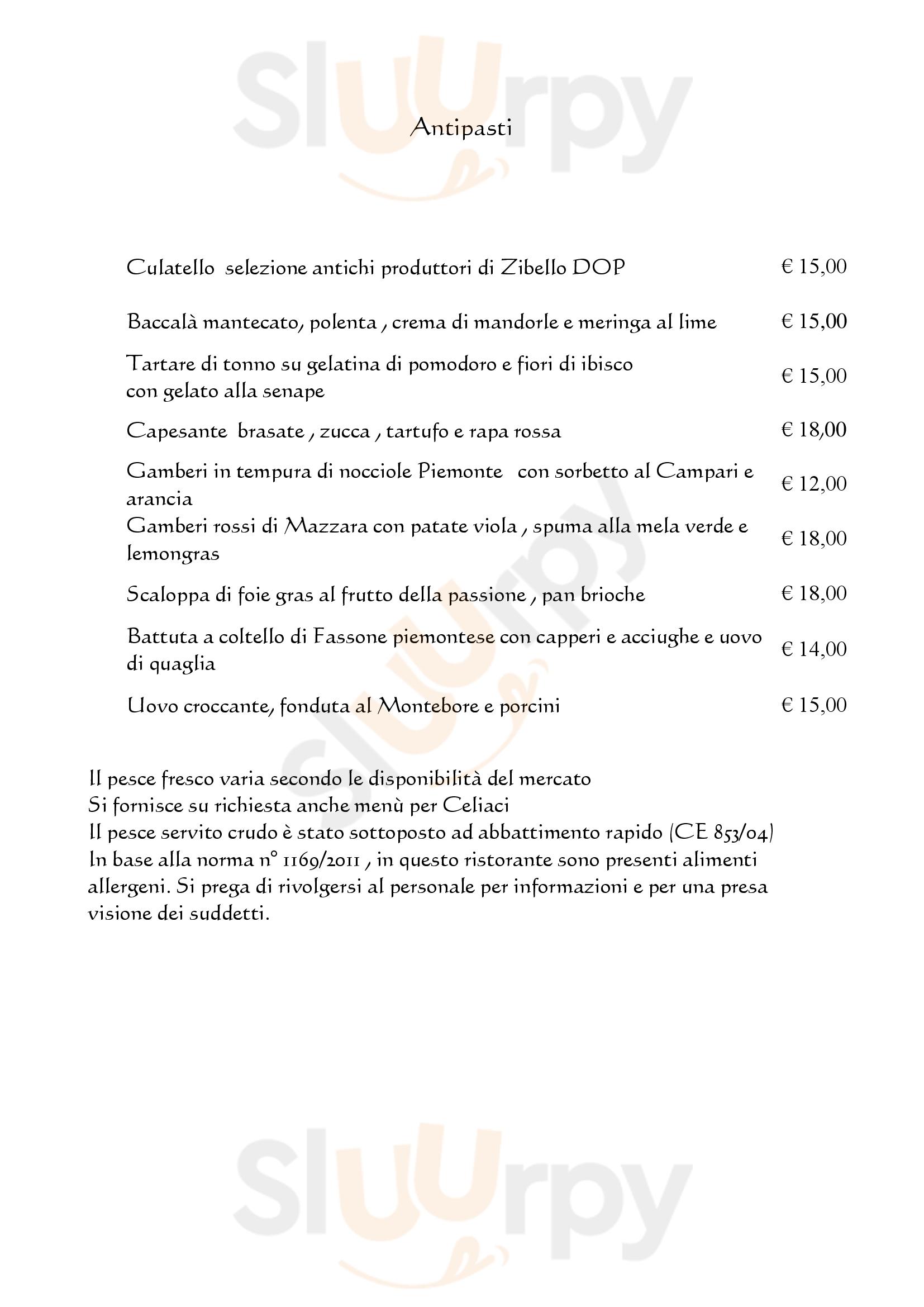 LOCANDA DEI NARCISI Pozzolo Formigaro menù 1 pagina