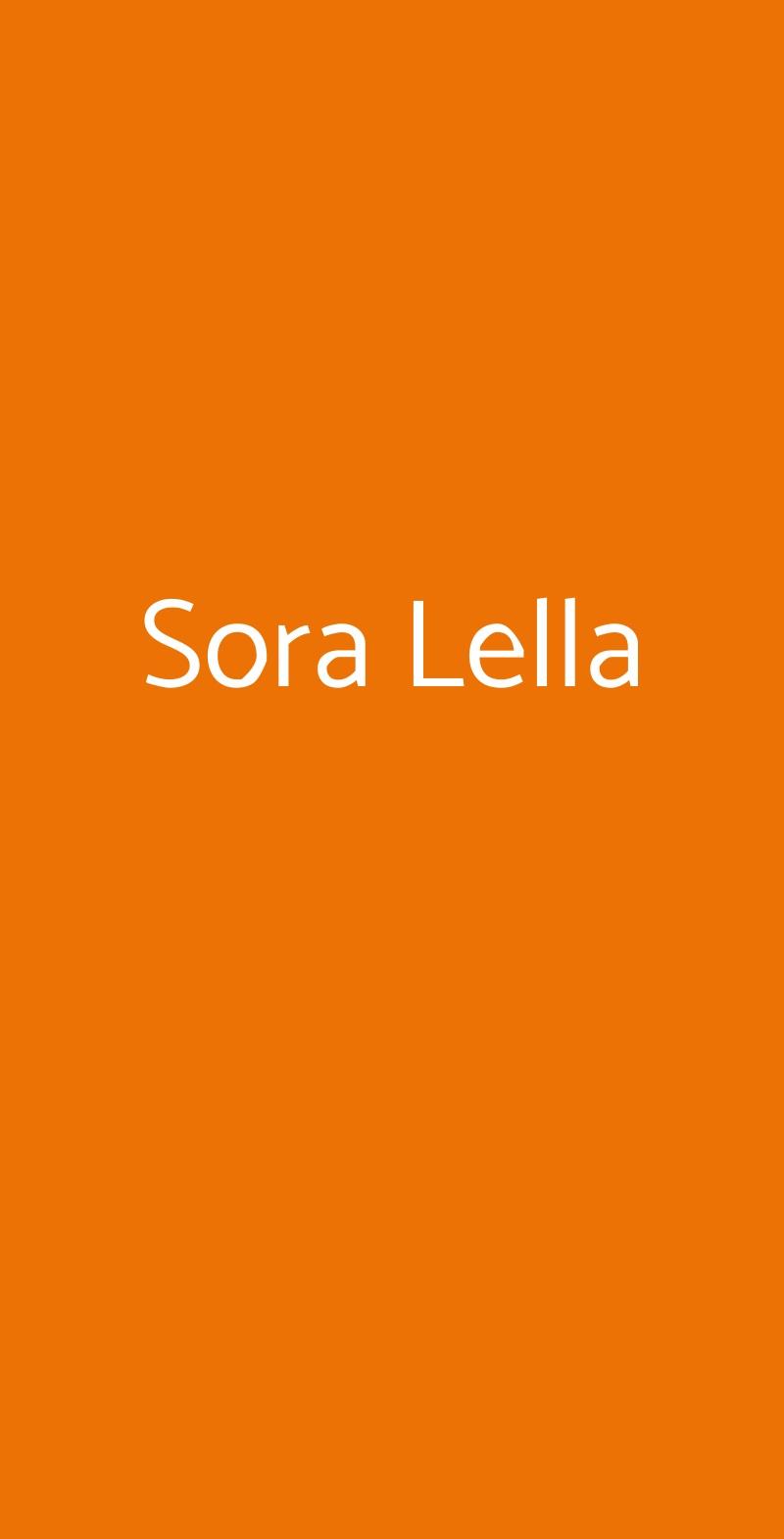Sora Lella Roma menù 1 pagina
