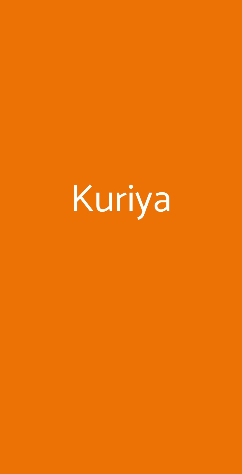 Kuriya Roma menù 1 pagina