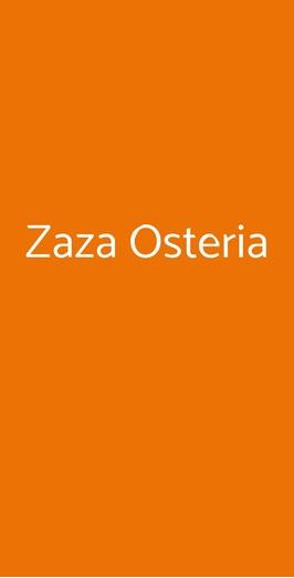 Zaza Osteria, Roma