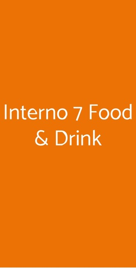 Interno 7 Food & Drink, Roma