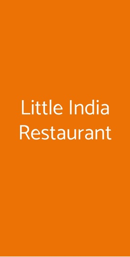 Little India Restaurant, Roma