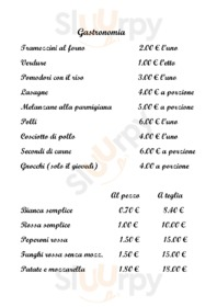 Menu Dimensione pizza
