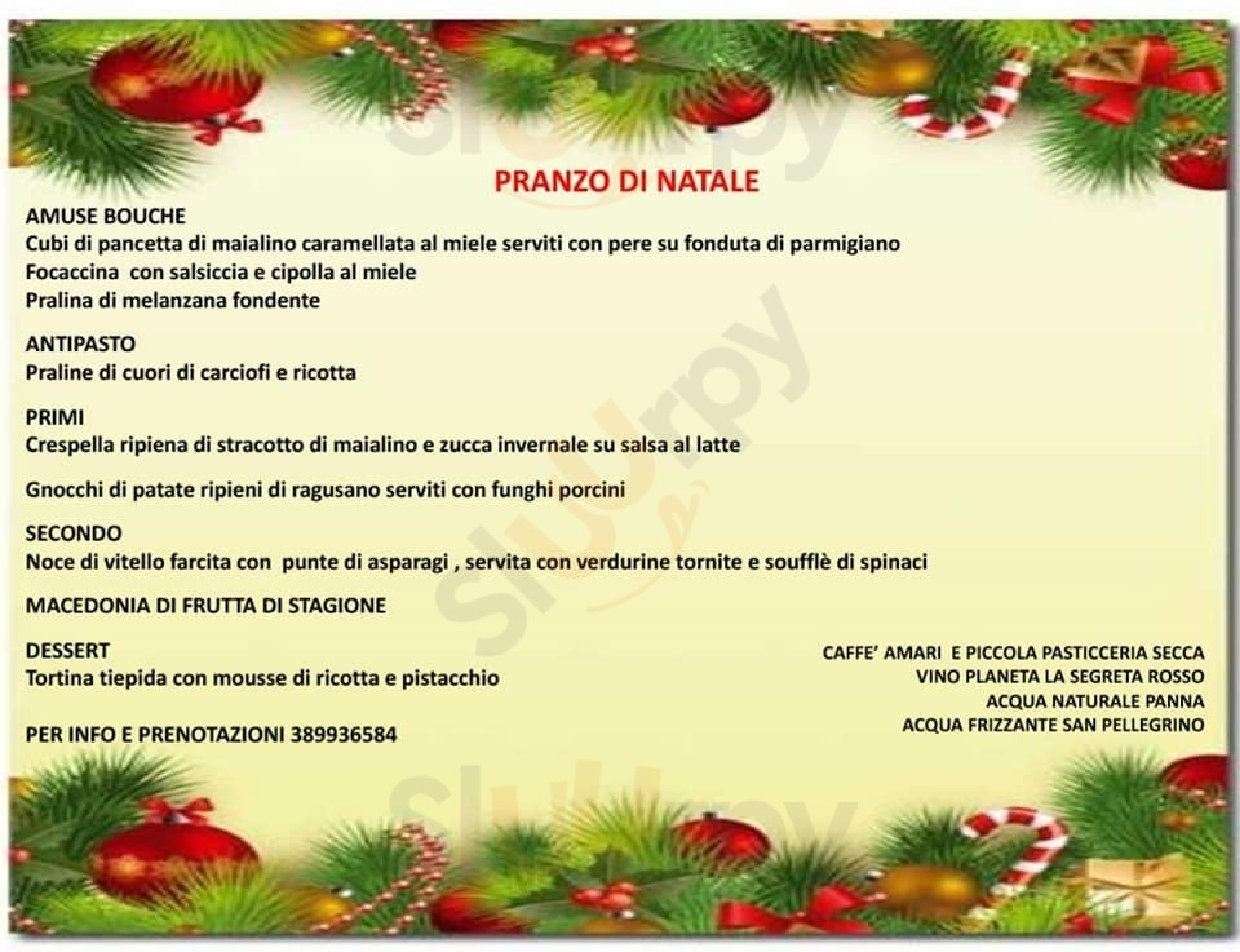 Lumie di Sicilia Restaurant Caltanissetta menù 1 pagina