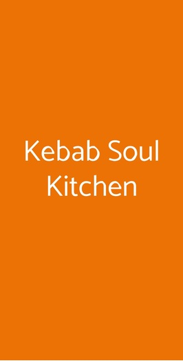 Kebab Soul Kitchen, Caltanissetta