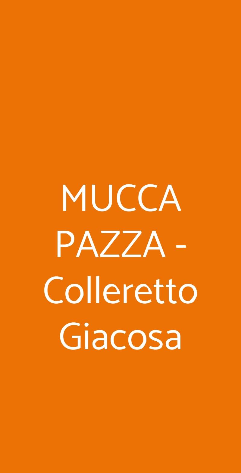 MUCCA PAZZA - Colleretto Giacosa Colleretto Giacosa menù 1 pagina