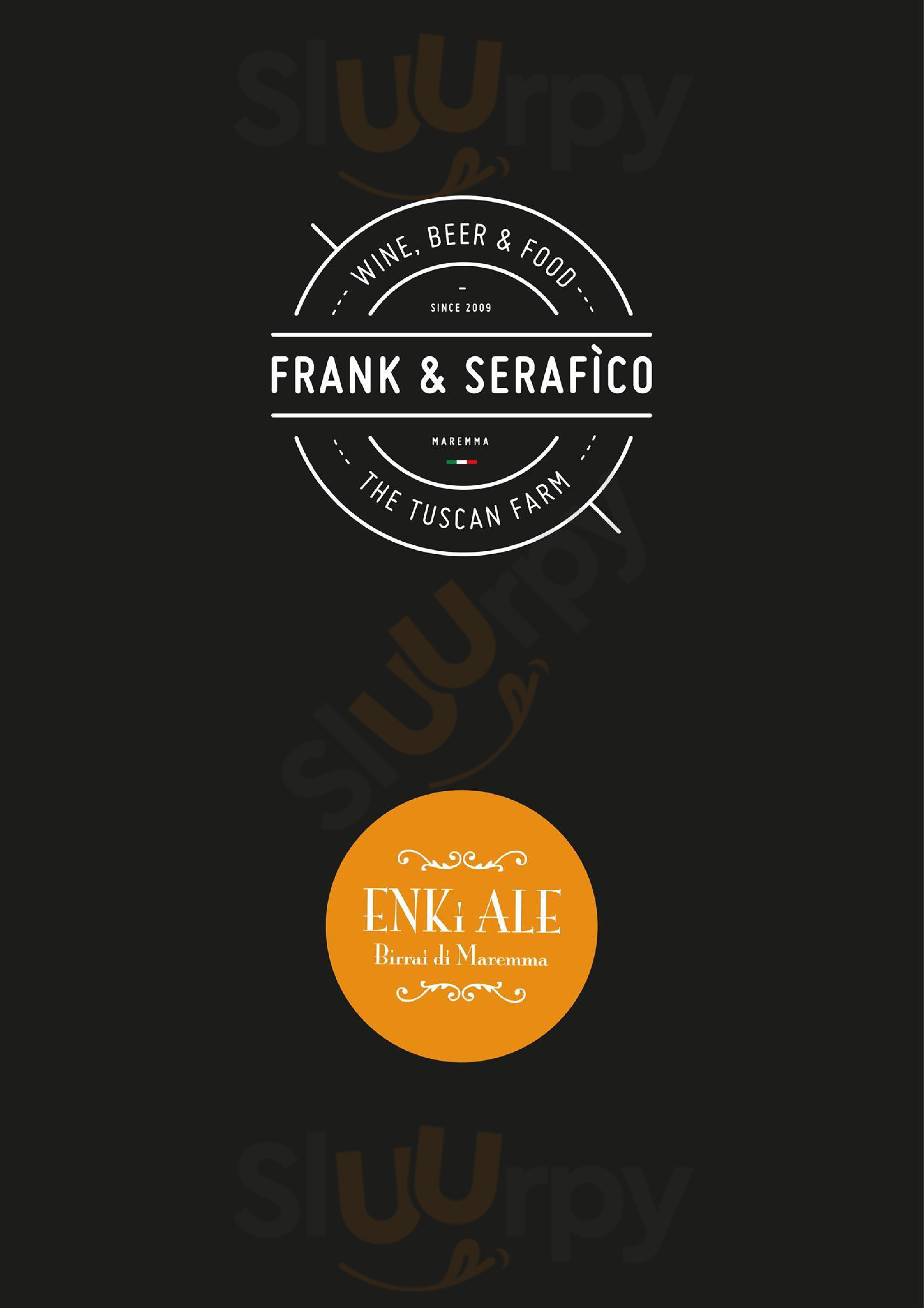 Frank & Serafìco Alberese menù 1 pagina