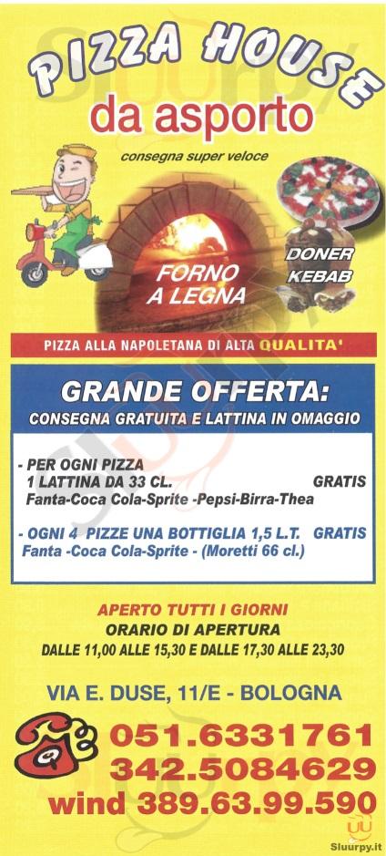 PIZZA HOUSE Bologna menù 1 pagina