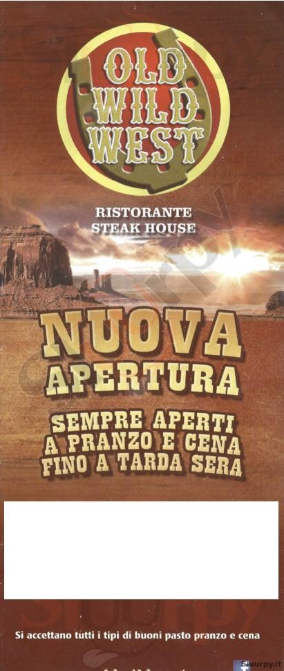 OLD WILD WEST - Parma Cinecity Parma menù 1 pagina