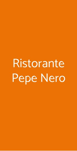 Ristorante Pepe Nero, Prato