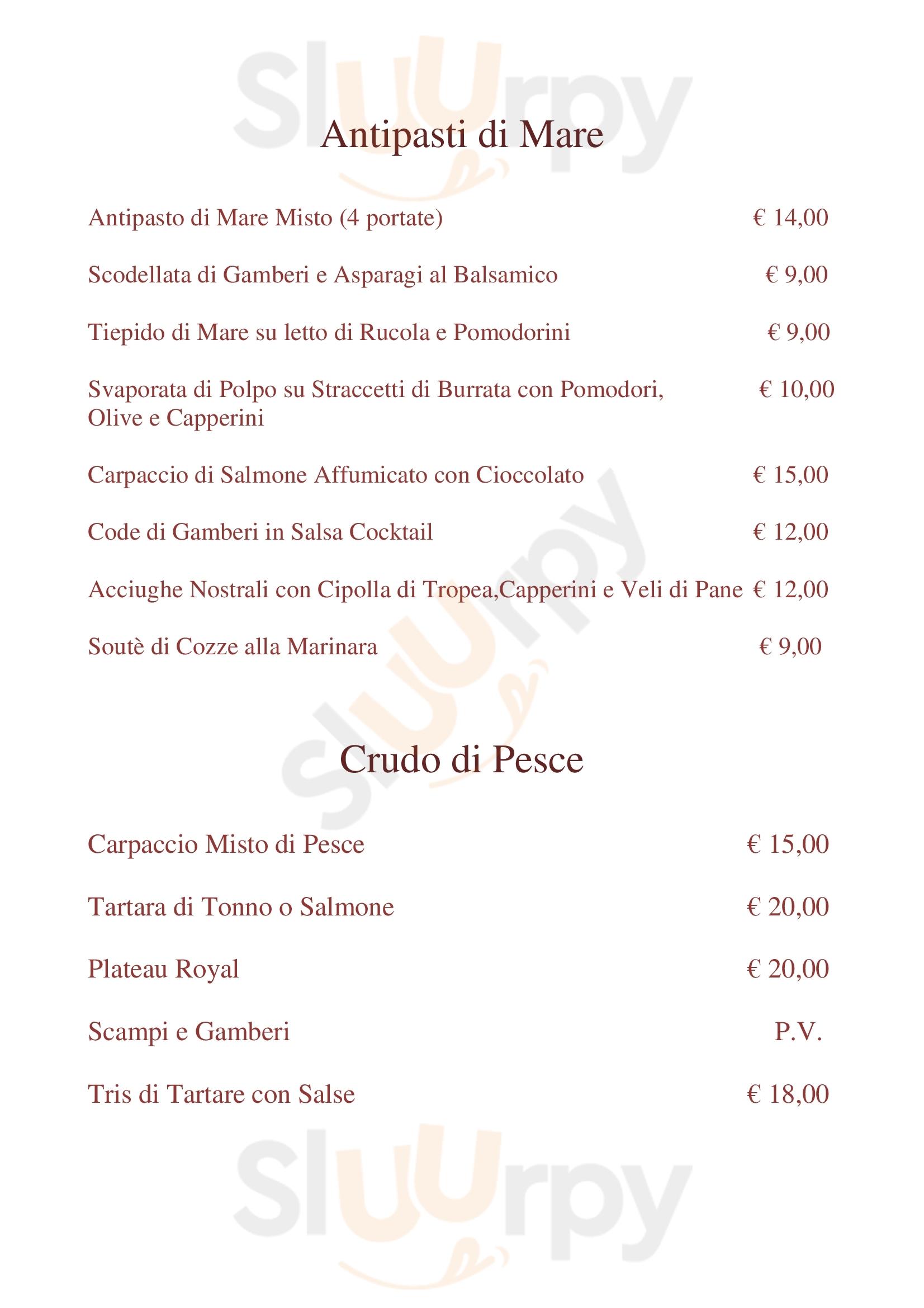 Ristorante Il Mercante Prato menù 1 pagina