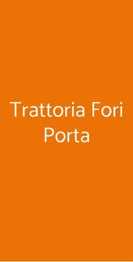 Trattoria Fori Porta, Siena