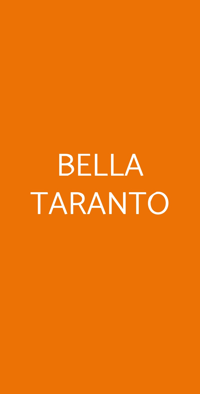 BELLA TARANTO Bologna menù 1 pagina
