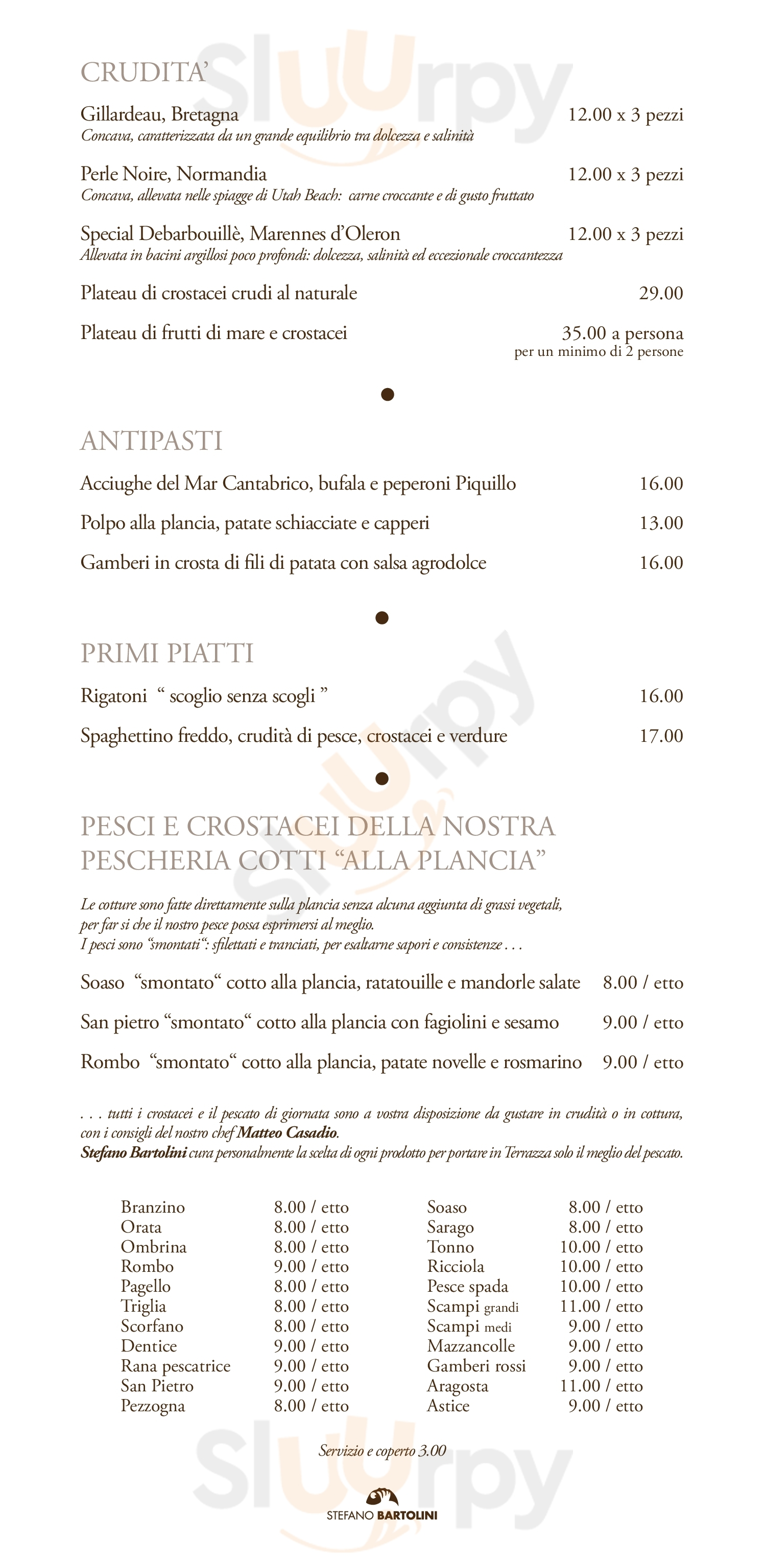 Terrazza Bartolini Menu Principale Sluurpy It
