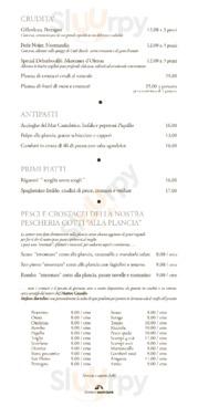 Terrazza Bartolini a Cervia Milano Marittima: Menù originale con Prezzi