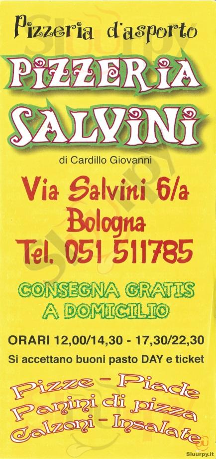 SALVINI Bologna menù 1 pagina