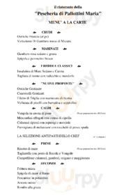 Menu Ristorante-Pescheria Pallottini Maria