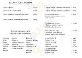 Menu Il Picchio