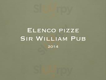 Menu Sir William Pub