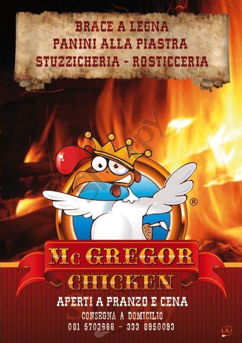 MC GREGOR CHICKEN Napoli menù 1 pagina