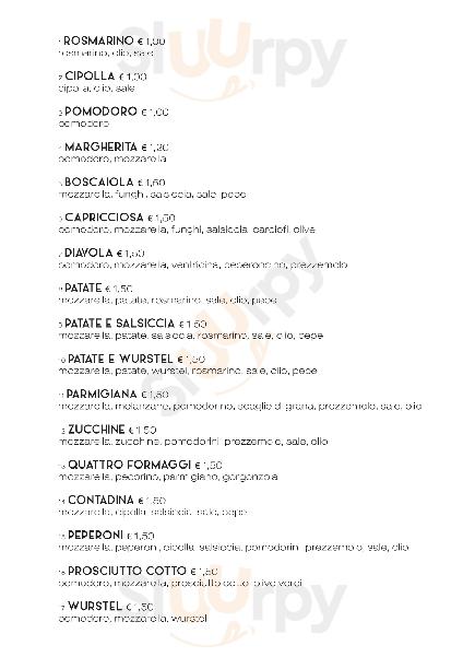 Pizzeria del Corso Fano menù 1 pagina