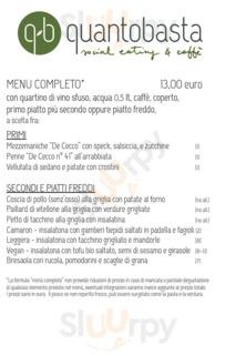 Menu Q-B Quantobasta - Social Eating & Caffe