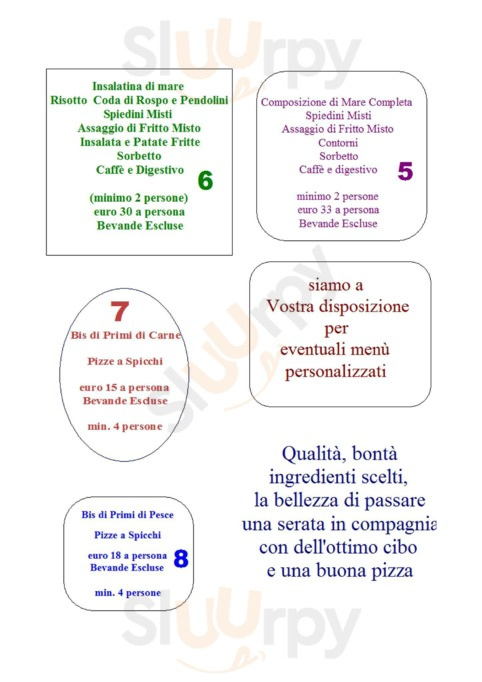 Menu Restaurant Pizzeria Gazebo