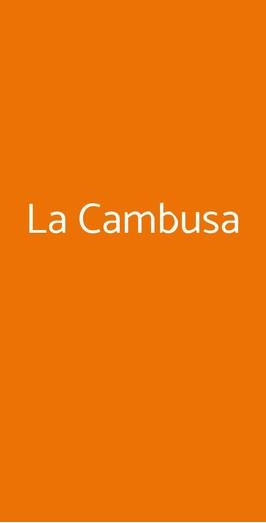 La Cambusa, Gabicce Mare