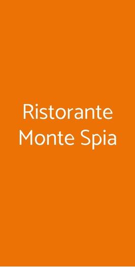 Ristorante Monte Spia, Montereale Valcellina